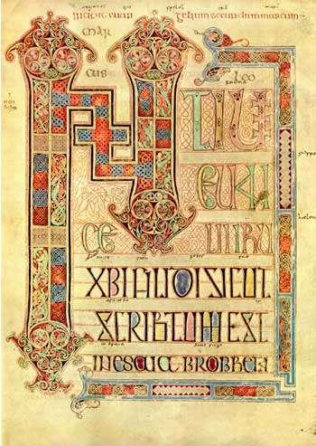 [BOOK OF LINDISFARNE] Evangeliorum Quattuor. Codex Lindisfarnensis.