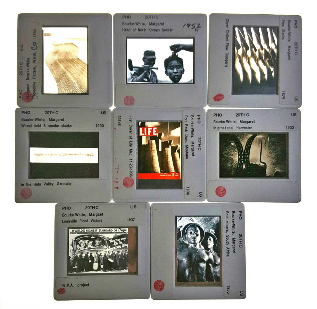 Margaret Bourke-White: A Collection Original Stills from her Recognized Photographs.