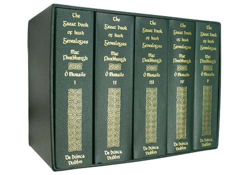 THE GREAT BOOK OF IRISH GENEALOGIES. [GENERAL EDITION] €635 (New Price with 15% Podcast Discount is €540)