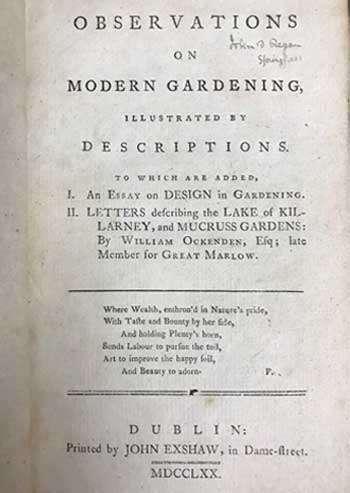 [WHATELY, Thomas & OCKENDEN, William] Observations on Modern Gardening.