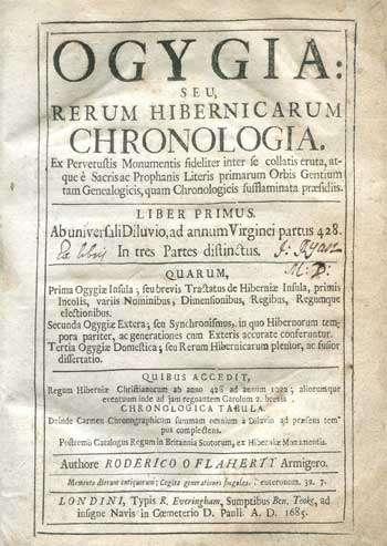 O'FLAHERTY, Roderico. Ogygia: Seu, Rerum Hibernicarum.