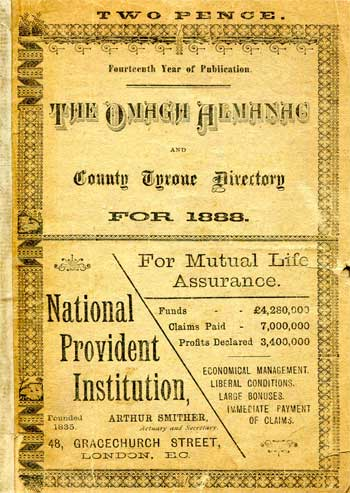 The Omagh Almanac and County Tyrone Directory for 1888.
