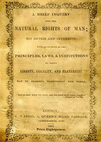 [RIGHTS OF MAN] A Brief Inquiry into the Natural Rights of Man.