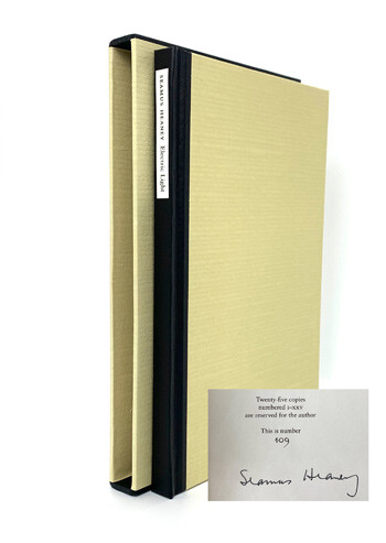 HEANEY, Seamus. Electric Light. LIMITED EDITION SIGNED BY SEAMUS HEANEY.