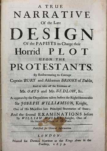 [POPISH PLOT] A Collection of nine Irish Popish-Plot.