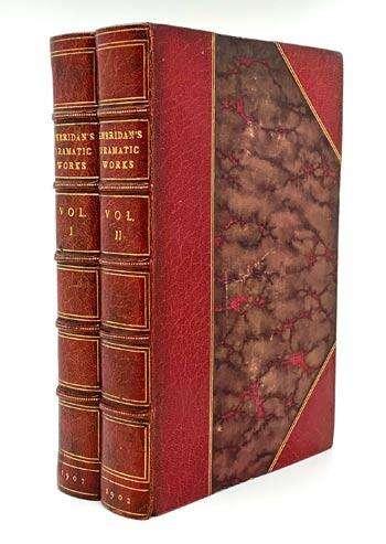 SHERIDAN, Richard Brinsley. The Dramatic Works of Richard Brinsley Sheridan.