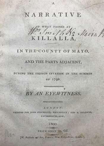 A Narrative of what Passed at Killalla