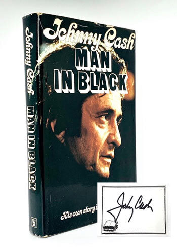 Johnny Cash: The Man in Black [Autographed by Cash on tipped in bookplate].
