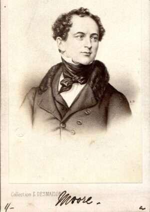 Carte de visite portrait of Thomas Moore, The Bard of Ireland. Photograph by E. Desmaisons, Paris.