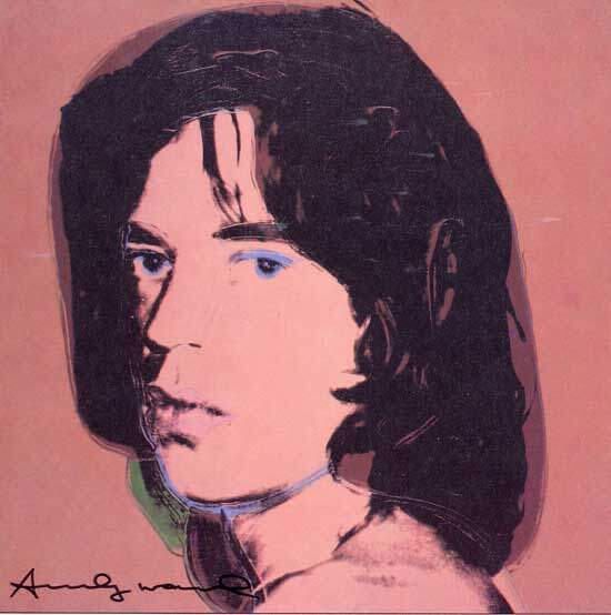 Andy Warhol: Autographed art book photograph of Mick Jagger.