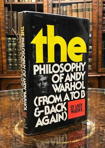 The Philosophy of Andy Warhol. (From A to B and Back Again): SIGNED by Warhol.