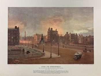 An original print of Dublin after the 1916 Rebellion