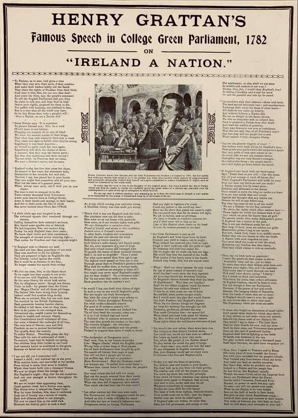 Henry Grattan's Famous Speech in College Green