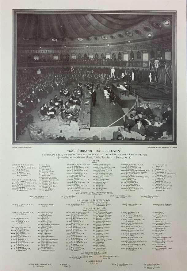 A print of the first Dail Eirean