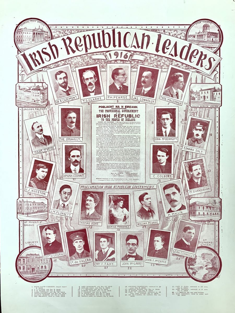 IRISH REPUBLICAN LEADERS 1916
