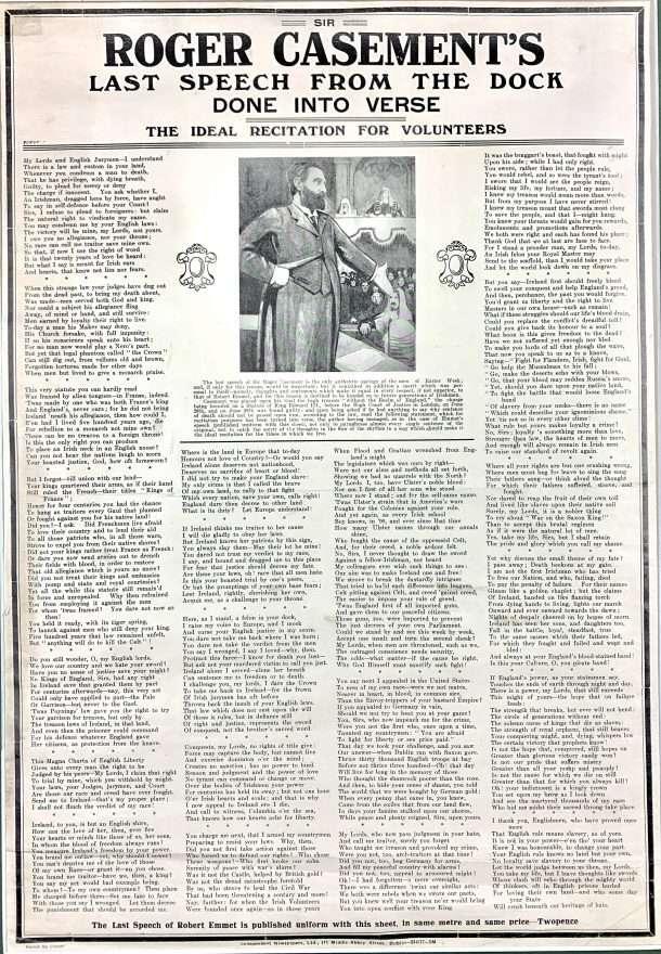 Sir Roger Casement's Last Speech from the Dock