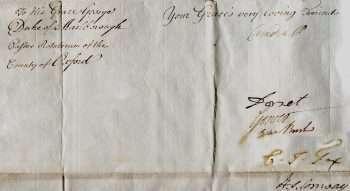 Edmund Burke signed document